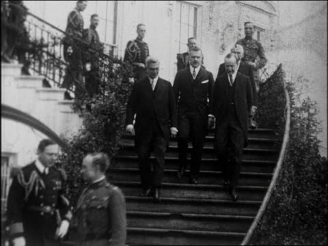 calvin coolidge walking down steps with cuban president machado secretary kellogg / news - 60 64 years stock videos & royalty-free footage