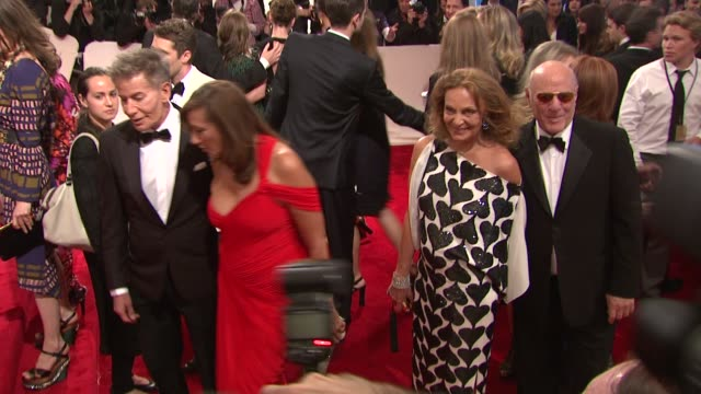 calvin klein, donna karan, diane von furstenberg and barry diller at the 'alexander mcqueen: savage beauty' costume institute gala at the... - barry diller stock videos & royalty-free footage