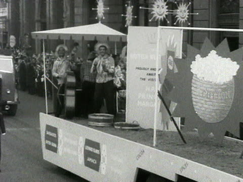 a calypso band entertain the crowds on a float during the lord mayor's show - calypso stock videos and b-roll footage