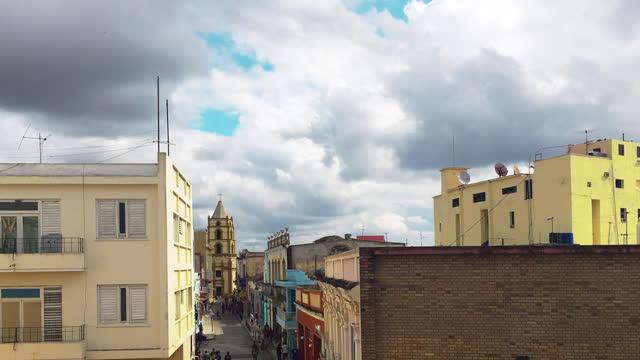 camaguey urban skyline from a vantage point, cuba - history stock videos & royalty-free footage