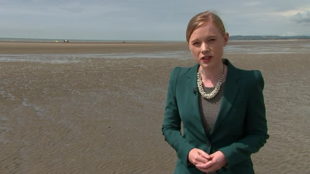 vídeos de stock e filmes b-roll de inquest gives verdict of misadventure on seven drownings int kabinuja thavarasa press conference sot east sussex camber sands ext water shimmering on... - east sussex