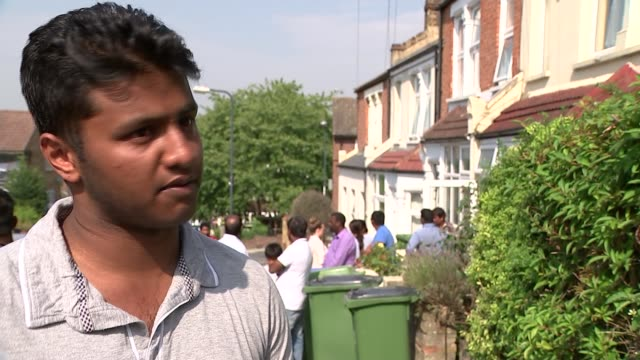 victims identified london members of drownign victim nitharshan ravi hugging eachother and crying/ ajirthan ravi interview sot/ east sussex camber... - 化粧品点の映像素材/bロール