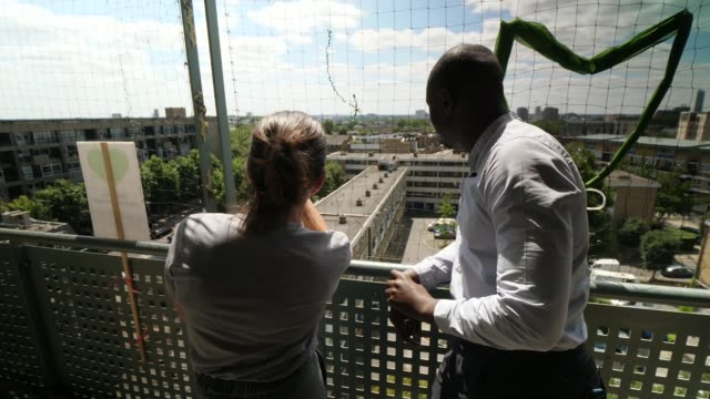 95% of tower blocks still lack sprinkler systems uk london north kensington sue duggins interview / grenfell tower seen from hazlewood tower england... - image manipulation stock videos and b-roll footage