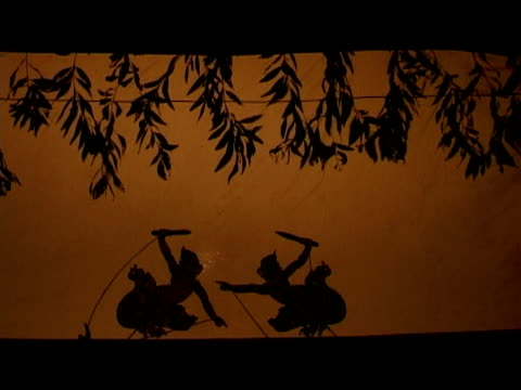 cambodia, shadow puppets - puppet stock videos & royalty-free footage