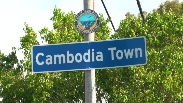 cambodia town - long beach california stock videos & royalty-free footage