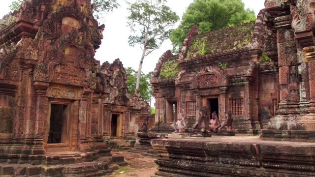 cambodian ancient temple ruin - antiquities stock videos & royalty-free footage