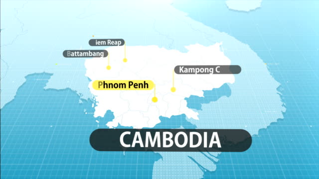 cambodian  map - cambodia stock videos & royalty-free footage