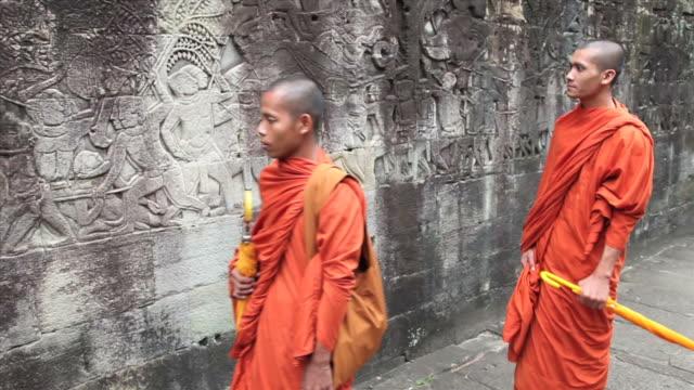 Camboyano monjes en el de bayón