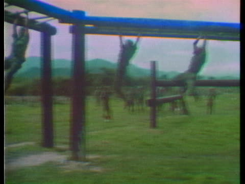 cambodian soldiers are instructed by u.s. advisers in south vietnam. - south vietnam stock videos & royalty-free footage