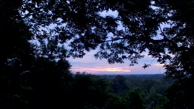 cambodian sunset - angkor stock videos and b-roll footage
