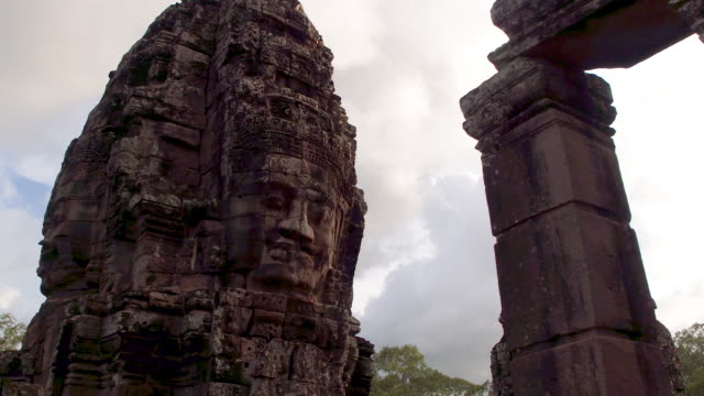 cambodian temple (khmer temple) old ruin - temple building stock videos & royalty-free footage