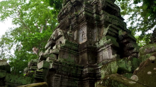 cambodian temple (khmer temple) - temple building stock videos & royalty-free footage