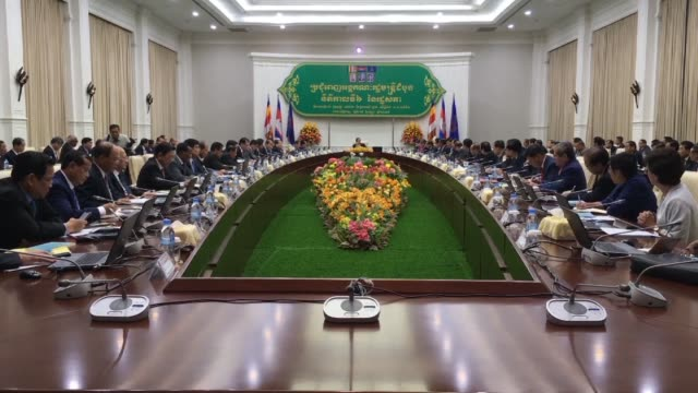 cambodia's strongman hun sen holds a new cabinet meeting a day after being formally installed as the country's prime minister for a new term... - strongman stock videos & royalty-free footage