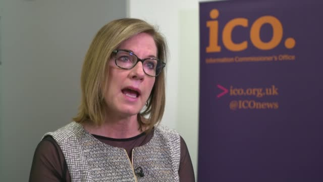 mps summons zuckerberg to give evidence england london int elizabeth denham interview sot - data breach stock videos and b-roll footage