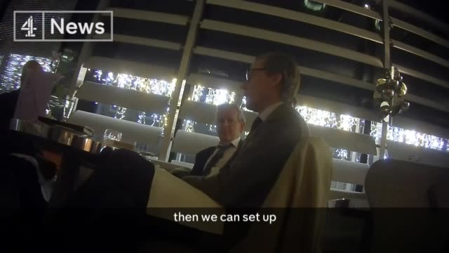 Cambridge Analytica undercover investigation Methods of access ENGLAND London Mark Turnbull and Alexander Nix sat at restaurant table as Nix talking...