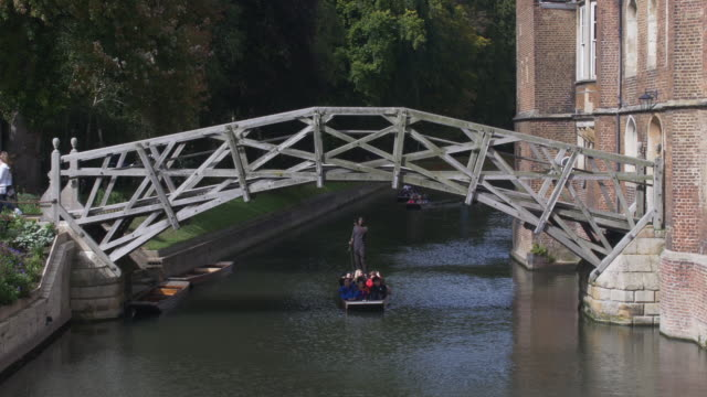 cambridge mathematical bridge. - cambridge england stock videos and b-roll footage