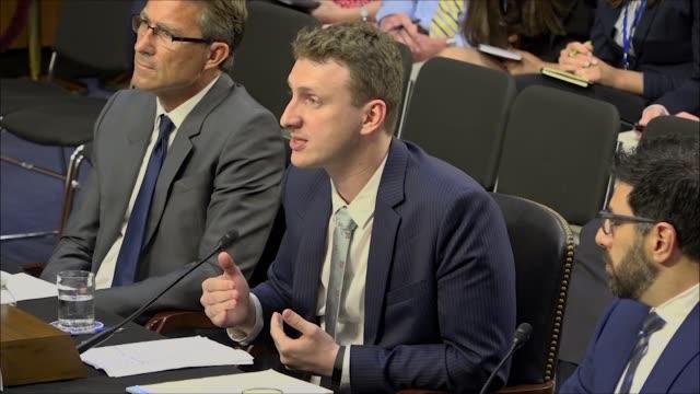Cambridge University Psychology Lecturer Aleksandr Kogan tells a Senate Commerce subcommittee at a hearing on Cambridge Analytica data abuses that...