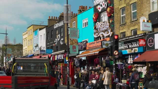 camden high st, london - retail stock videos & royalty-free footage