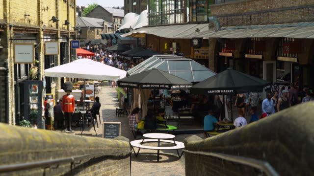 Camden Market in the sunshine, London