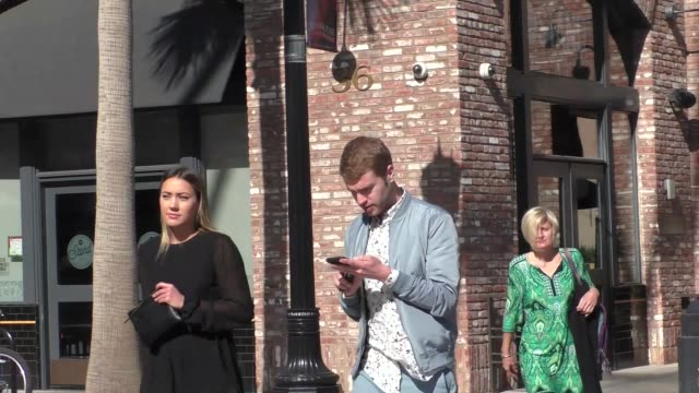 camden scott shane bitney crone arriving to the opening night of belleville at pasadena playhouse in pasadena in celebrity sightings in los angeles - pasadena playhouse stock videos & royalty-free footage