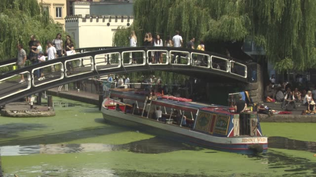 atmosphere camden town at british summertime heatwave on july 18 2016 in london england - summer stock videos & royalty-free footage
