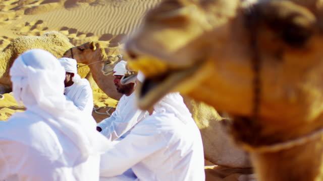 camel caravan train travelling across middle eastern desert - middle eastern ethnicity bildbanksvideor och videomaterial från bakom kulisserna