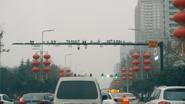 camera above road,xi'an,china. - webcam stock videos & royalty-free footage