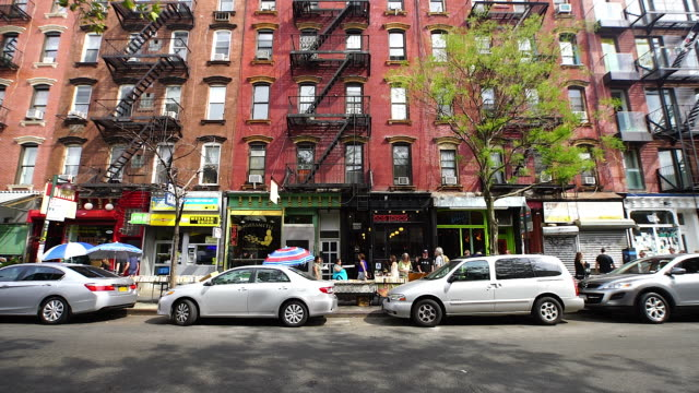 Camera captures people and street view of Bedford Avenue at Brooklyn.