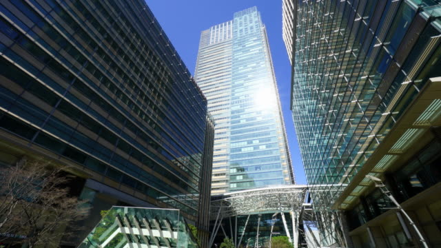 camera captures tokyo midtown facilities and architectures in roppongi district at akasaka, minato-ku tokyo. - tokyo midtown stock videos & royalty-free footage