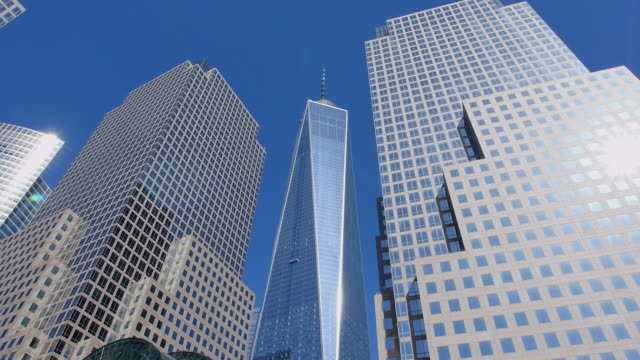 PAN Camera captures World Financial Center Buildings and One World Trade Center Building.