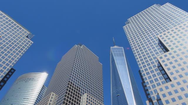 TU Camera captures World Financial Center Buildings and One World Trade Center Building.