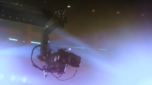 camera cranes in concert - home video camera stock videos and b-roll footage