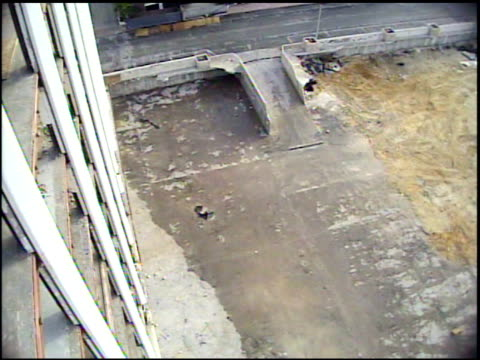 ms camera crashes down as blast destroys building / coral gables, florida, united states  - collapsing stock videos and b-roll footage