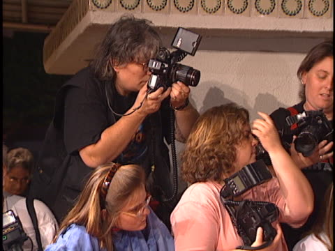 camera crews at the now and then premiere at westwood in westwood, ca. - westwood stock-videos und b-roll-filmmaterial
