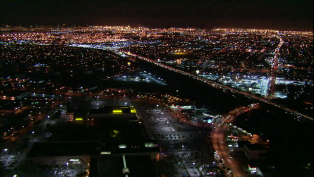 Camera flies southward over Carson Mall, then over 405 freeway