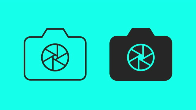 slr camera icons - vector animate - slr camera stock videos and b-roll footage