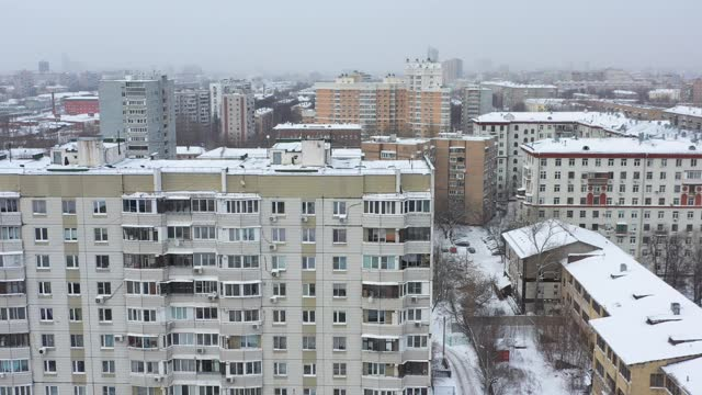 camera is flying away of the window of a building - russia stock videos & royalty-free footage