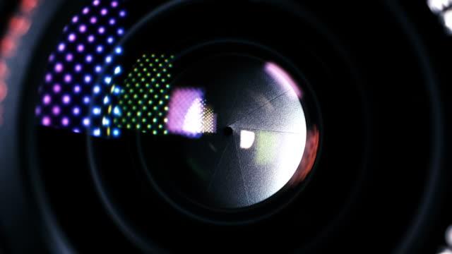 Camera Lens Iris Adjusting