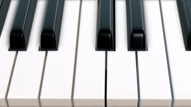 camera movement over piano keyboard (top view) - loop - piano key stock videos & royalty-free footage