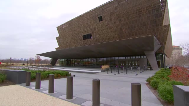 camera pan on the exterior of the museum of african american history & culture during the u.s. government shutdown on january 2, 2019 in washington... - african american culture stock videos & royalty-free footage