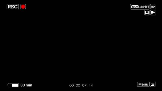 4k kamera aufnahme bildschirm-overlay alphakanal - digitalkamera bildschirm stock-videos und b-roll-filmmaterial