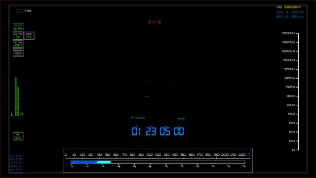 dslr-kamera aufnahme sucher - hud stock video - digitalkamera bildschirm stock-videos und b-roll-filmmaterial