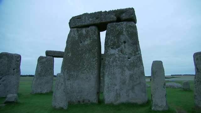 camera tilt on a standing stone inside stonehenge on august 28, 2018 in wiltshire, england. - music or celebrities or fashion or film industry or film premiere or youth culture or novelty item or vacations stock videos & royalty-free footage
