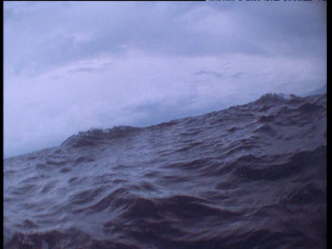 Camera tossed around by waves before sinking below surface