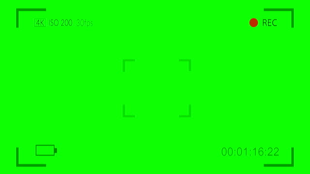camera viewfinder digital overlay display on green screen - home video camera stock videos and b-roll footage