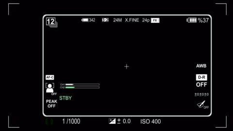 kamerans sökare iso och slutartid hastighet animation - digital spegelreflexkamera bildbanksvideor och videomaterial från bakom kulisserna