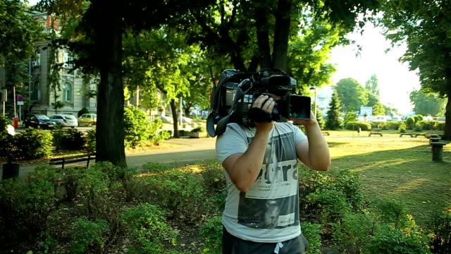cameraman on fieldwork
