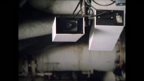 vídeos y material grabado en eventos de stock de cctv cameras and security monitors in a hospital; 1979 - equipo de seguridad
