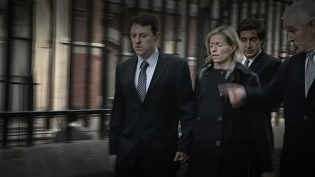 cameron accused of going soft on press regulation lib / london high court kate mccann and gerry mccann arriving at leveson inquiry - kate mccann stock videos & royalty-free footage