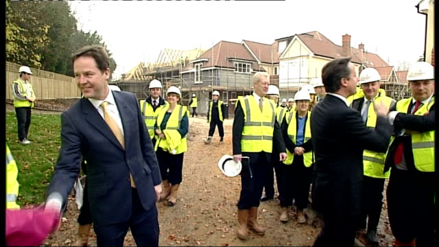 cameron announces plans for new welfare crackdown r21111101 surrey guildford ext cameron and deputy prime minister nick clegg mp meeting people... - guildford stock videos and b-roll footage